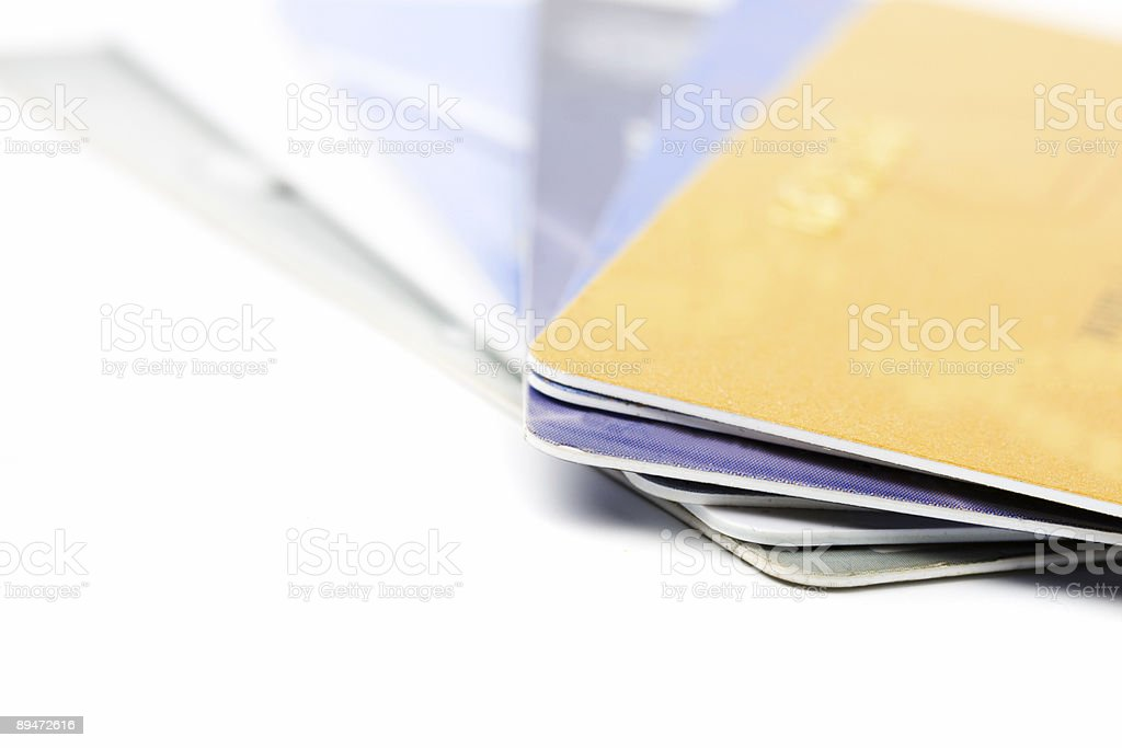 credit cards macro on white royalty-free stock photo