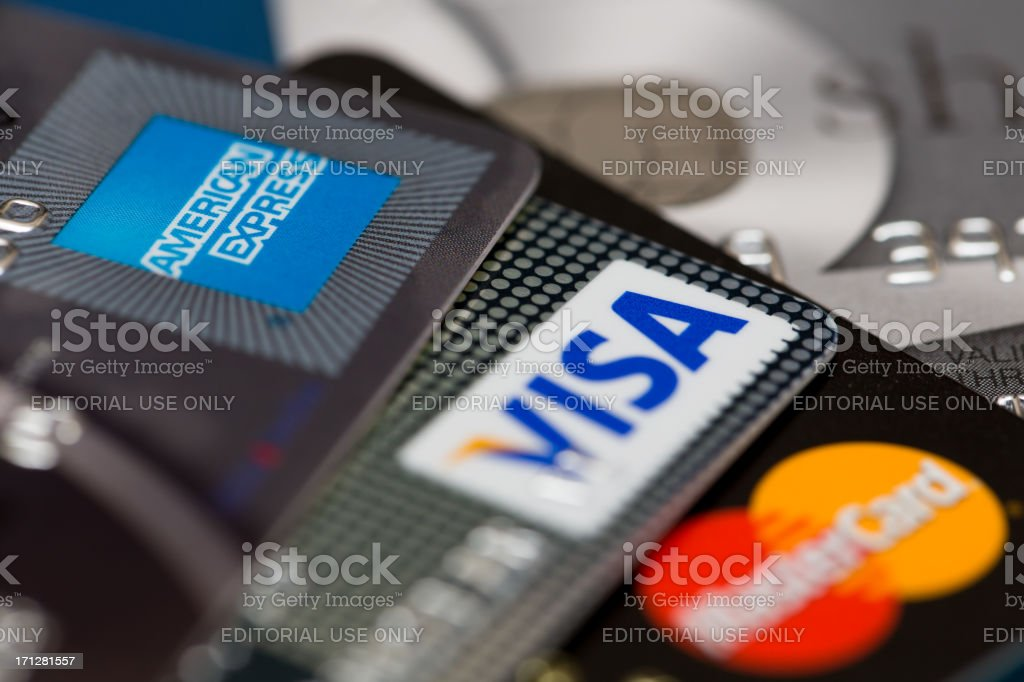 Tarjetas de crédito - foto de stock