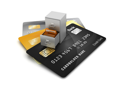 Credit Cards with Archives - 3D Rendering