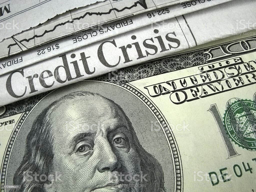 U.S. Credit Crisis royalty-free stock photo