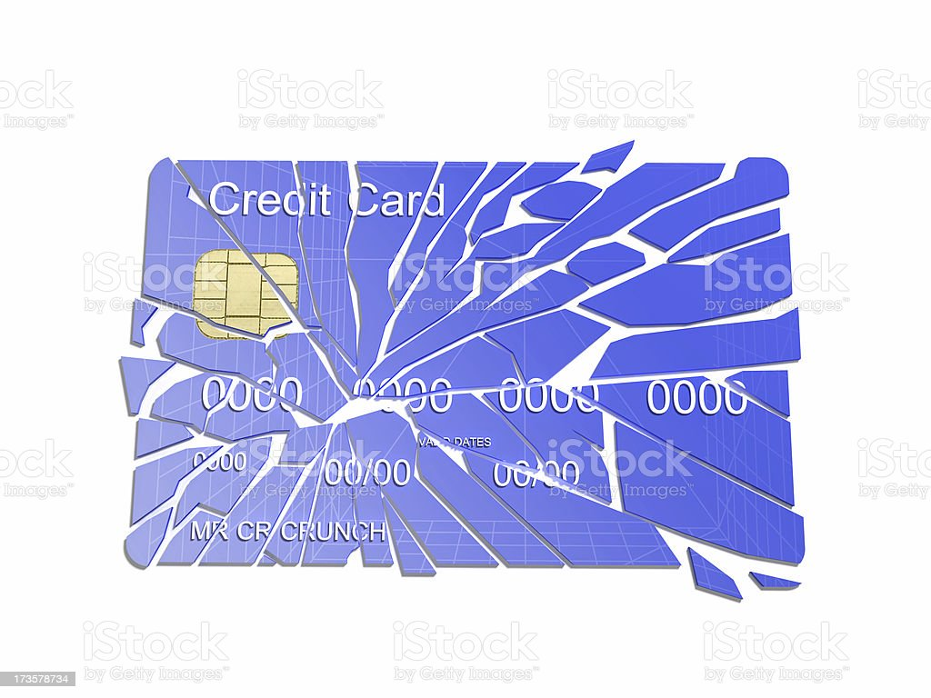 Credit Crunch 3 royalty-free stock photo