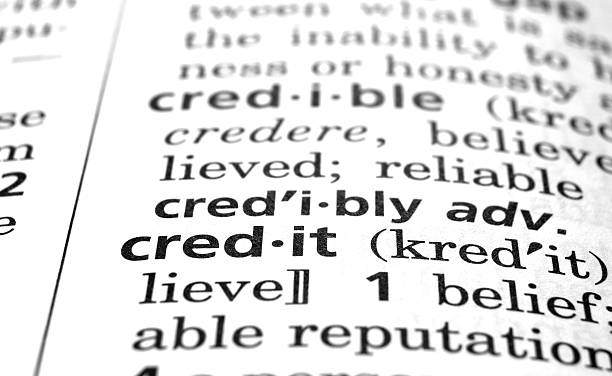 Credit Defined  debenture stock pictures, royalty-free photos & images