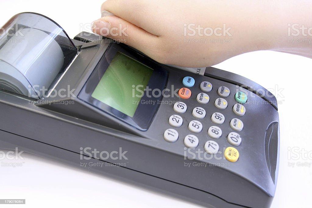 credit machine stock photo
