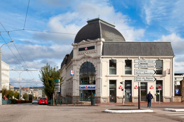 Credit Mutuel in Limoges stock photo