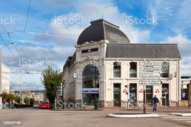 Credit Mutuel In Limoges Stock Photo - Download Image Now