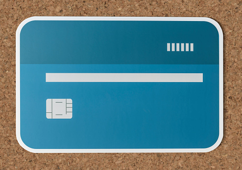 Credit Of Debit Card Bancaire Pictogram Stockfoto en meer beelden van Bank - Financieel gebouw