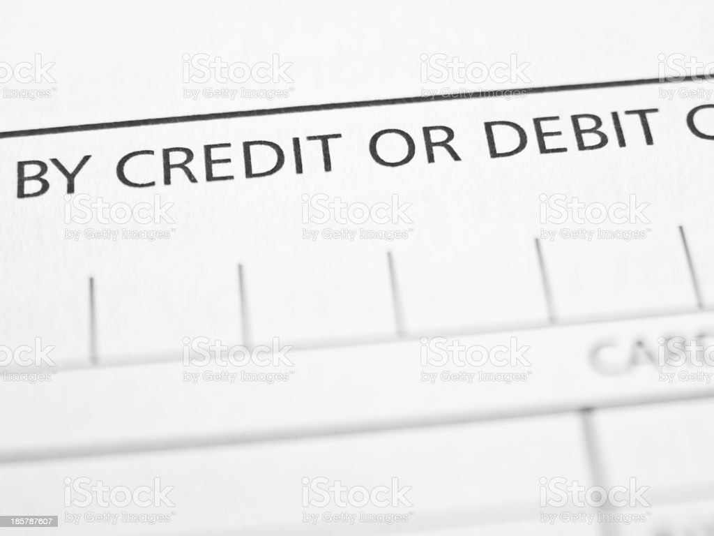 Credit or debit royalty-free stock photo