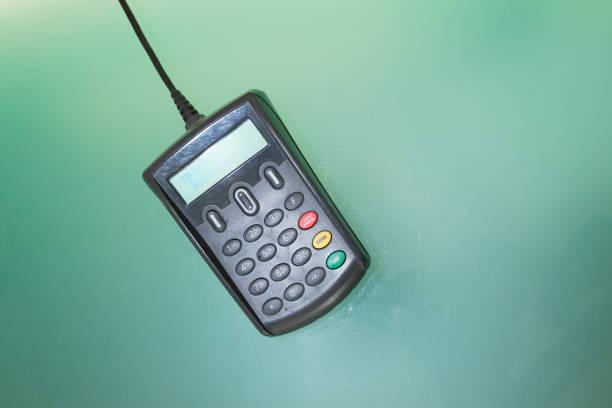 655c32c3bec4fc Credit pin pad of card machine or pos terminal payment stock photo