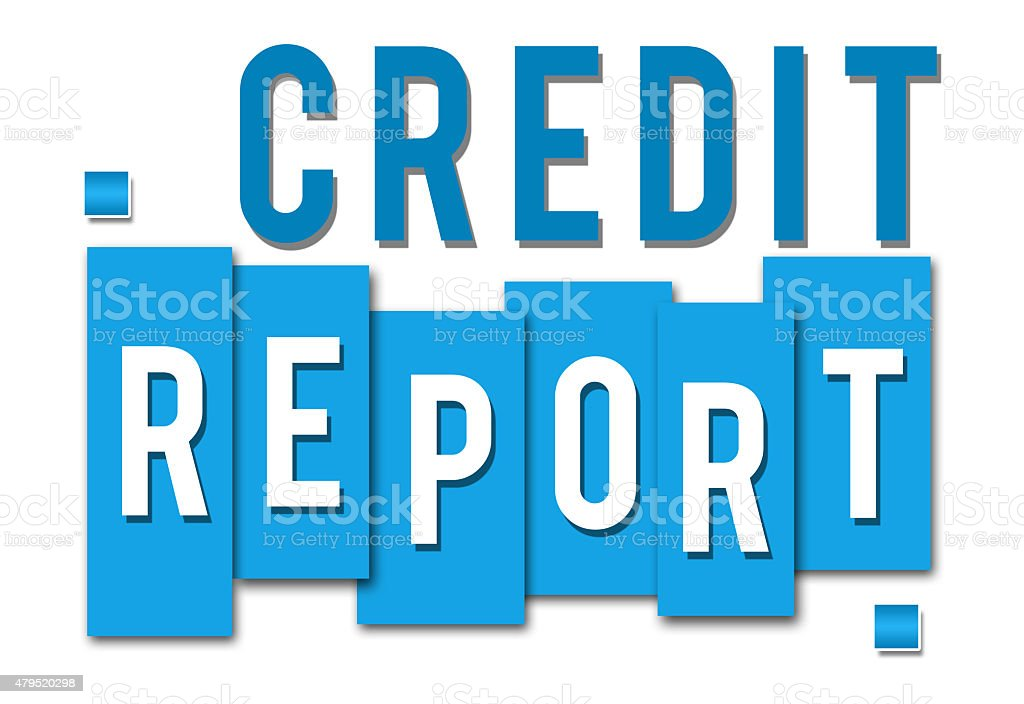 Credit Report Blue Stripes stock photo
