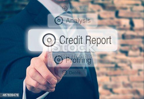 istock Credit Report Concept 487839476