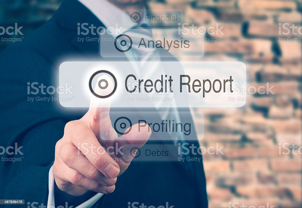Credit Report Concept stock photo