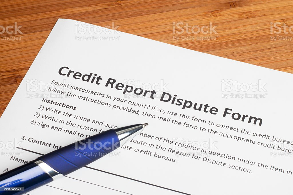 Credit Report Dispute >> Credit Report Dispute Score Stock Photo Download Image Now
