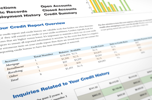 Credit Report Stock Photo - Download Image Now