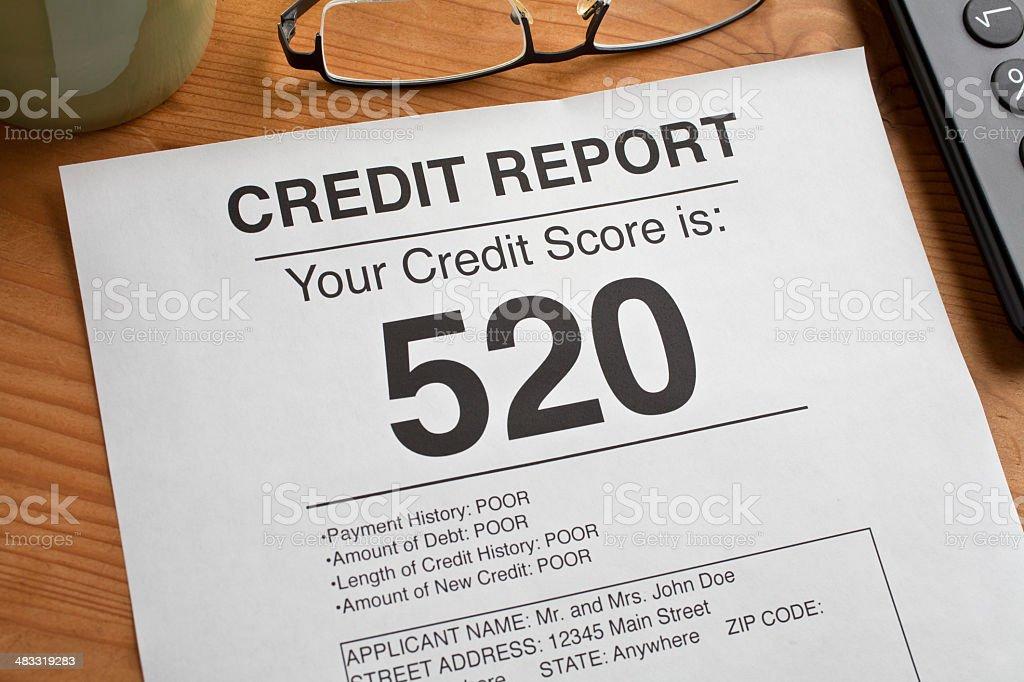 Credit Report stock photo