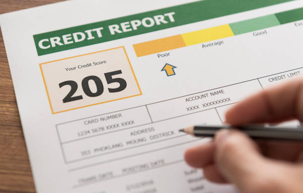 credit report women checking credit score in credit history report. debt ceiling stock pictures, royalty-free photos & images
