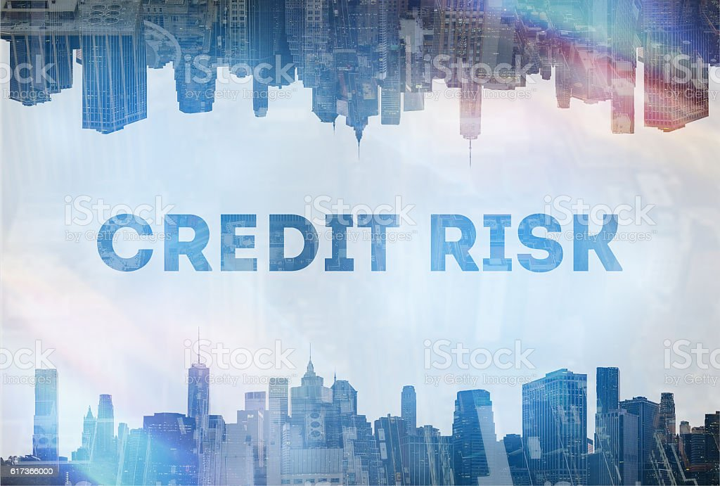 Credit Risk  concept image stock photo