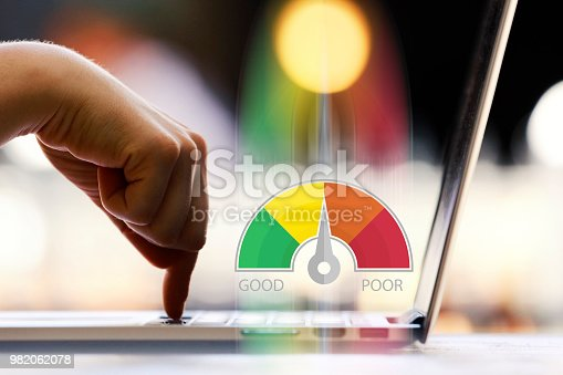 Credit Score Concept on Laptop