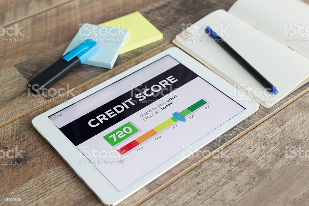 Credit Score Online stock photo