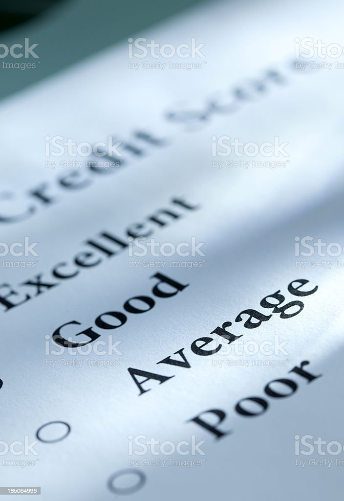 Credit Score royalty-free stock photo
