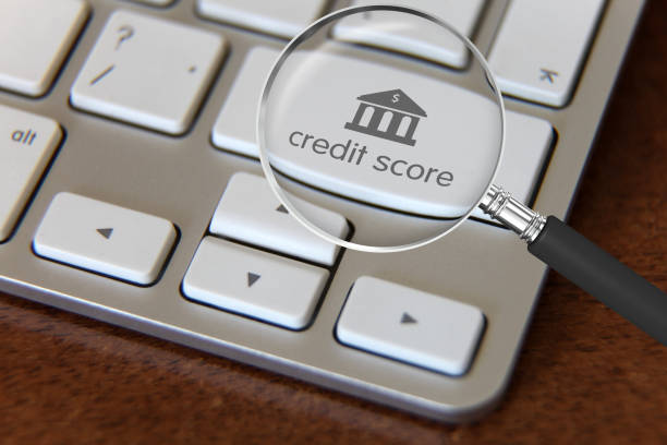 kreditvergabe melden e-banking-finanzierung - bankhaken stock-fotos und bilder