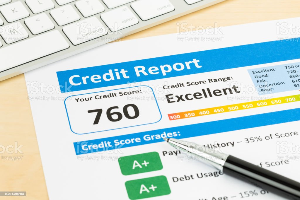 550 Credit Score Credit Card >> Credit Score Report With Keyboard Stock Photo Download