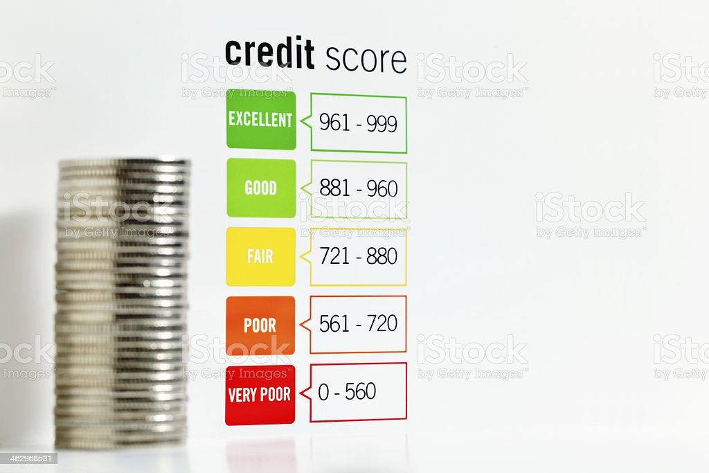 Credit Scoring Chart stock photo