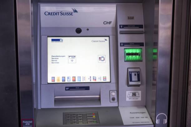 Credit Suisse ATM stock photo