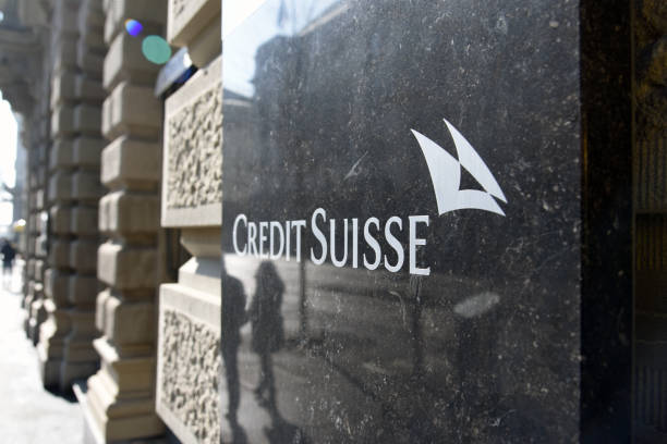 Credit Suisse - Headquarters stock photo