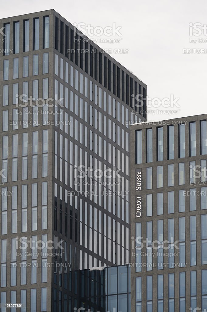 Credit Suisse Office Building in Zurich royalty-free stock photo