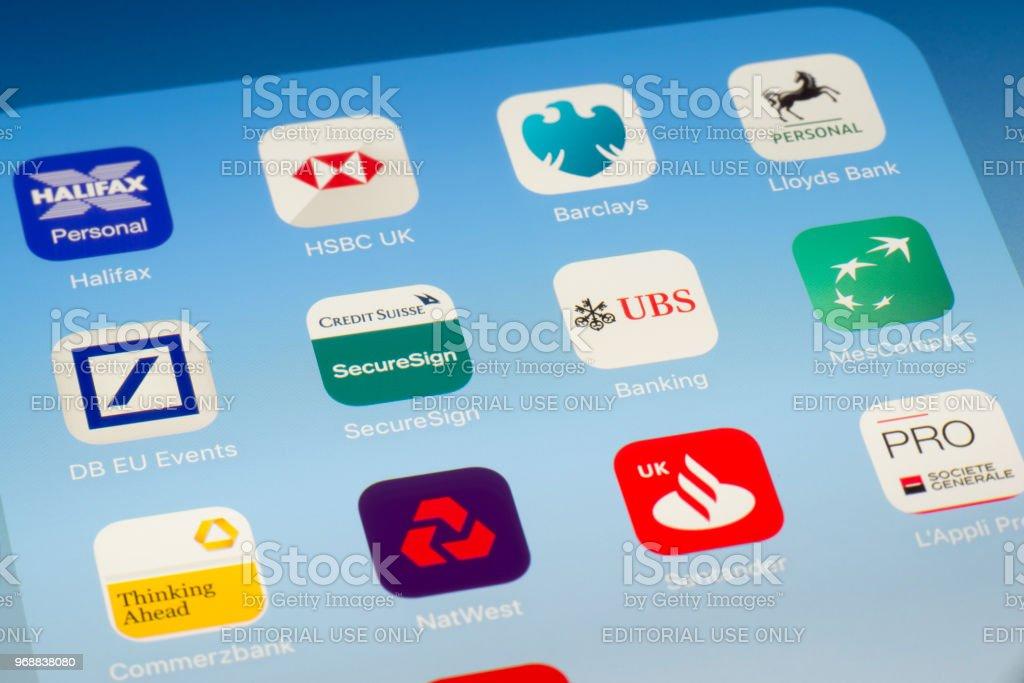 Credit Suisse Ubs And Other Banking Apps On Ipad Screen