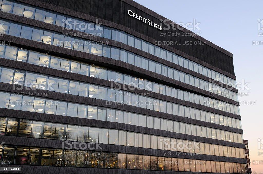 Credit Suisse Zurich stock photo