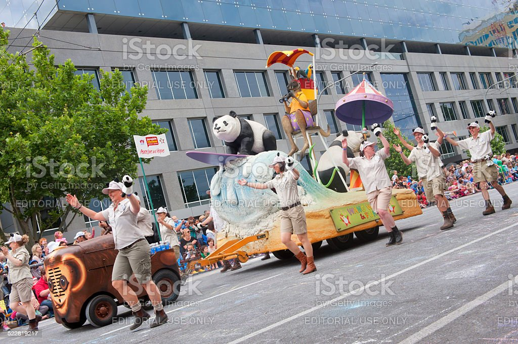 2014 Credit Union Christmas Pageant stock photo