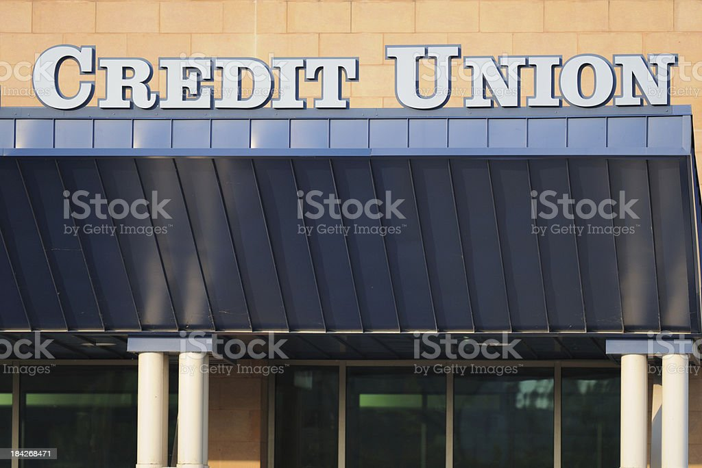 Credit Union sign royalty-free stock photo