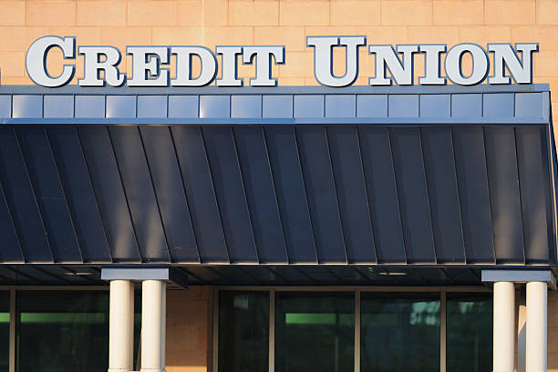 Credit Union sign stock photo