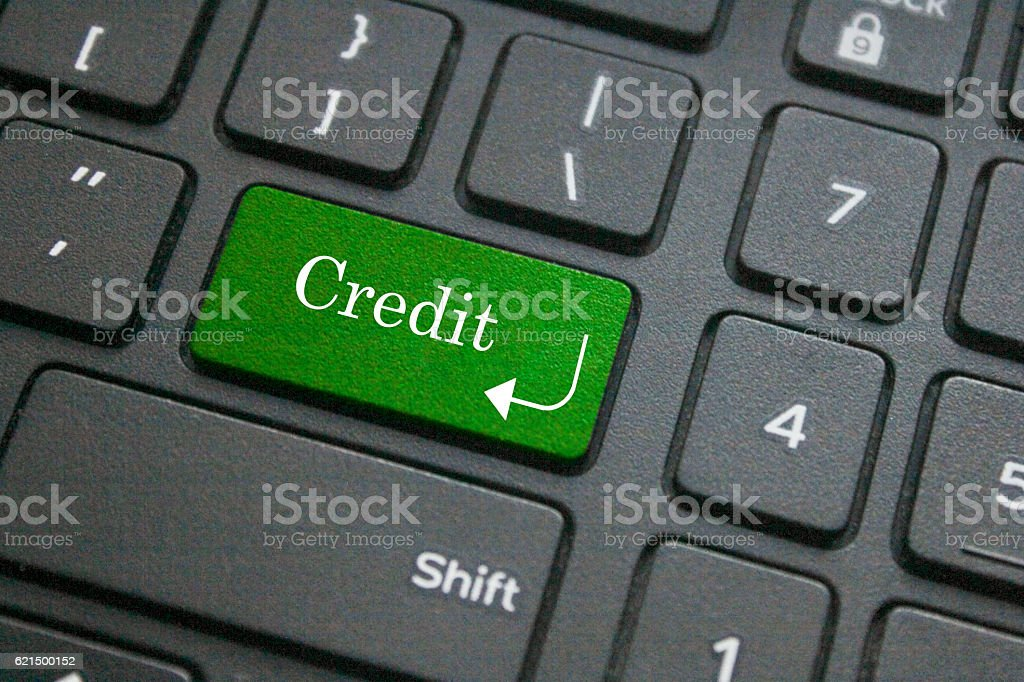 Credit word on computer keyboard photo libre de droits