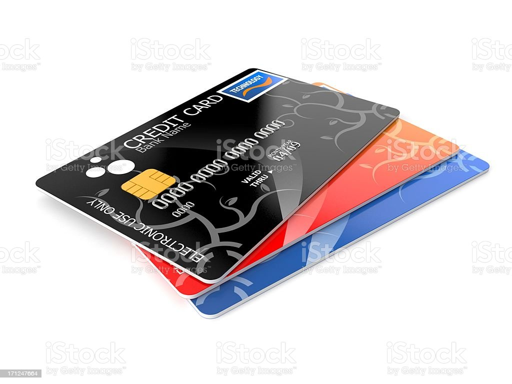Creditcards royalty-free stock photo