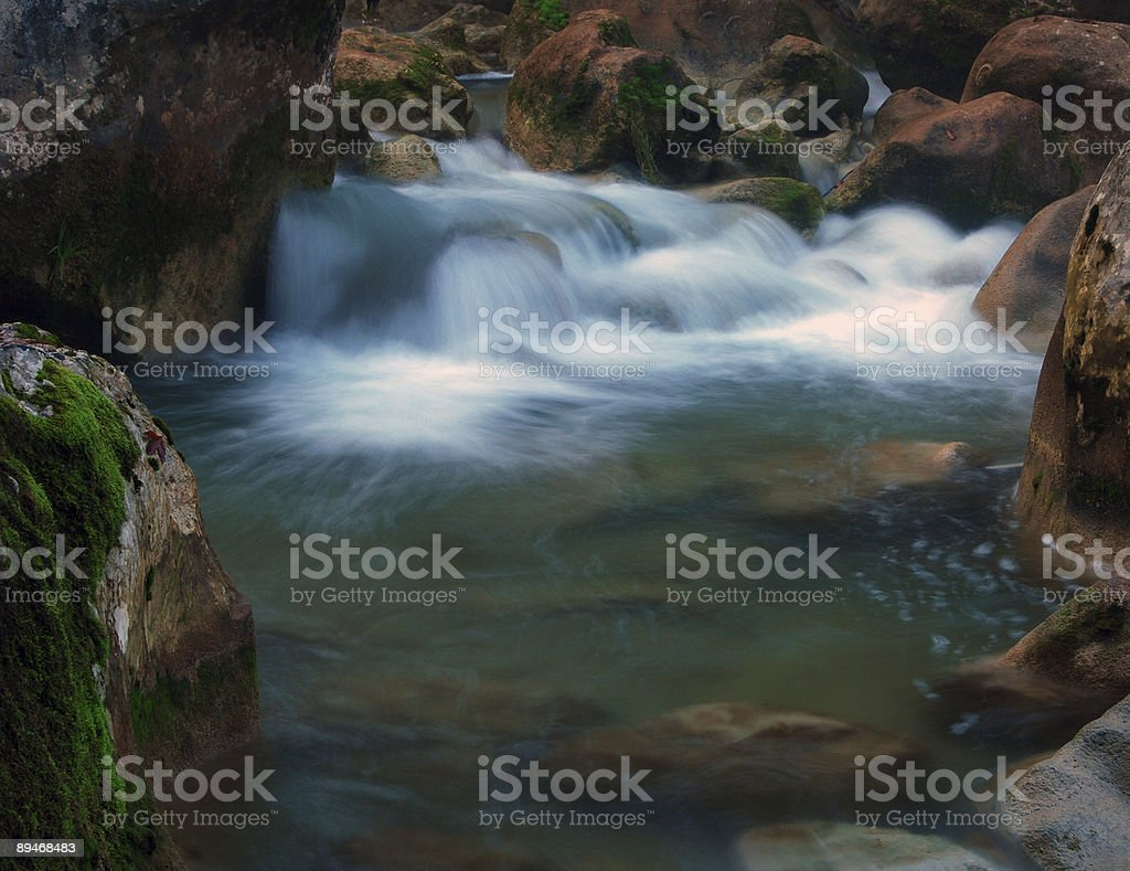 creek and waterfall royalty-free stock photo