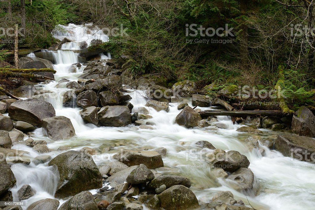 Creek at Shannon Falls Provincial Park stock photo