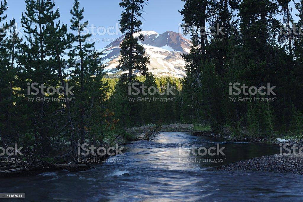 Creek at South Sister stock photo