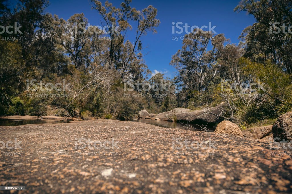 Creek Bed, Megalong Valley NSW, Australia stock photo
