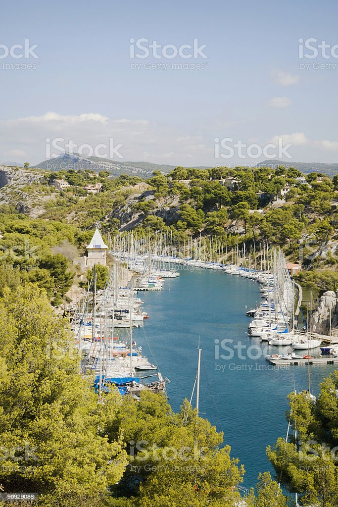 Calanques Dock royalty-free stock photo
