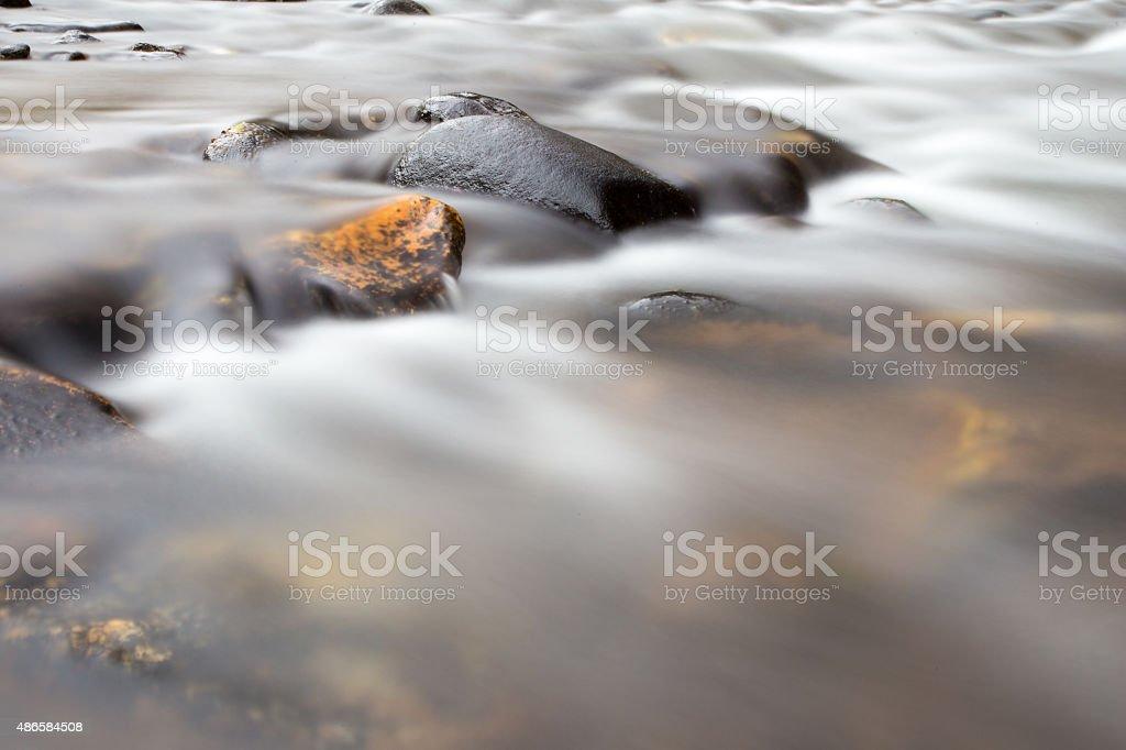 Creek in Hyalite, Montana stock photo