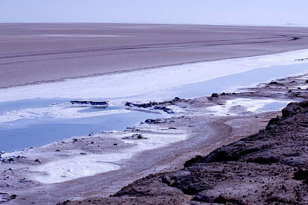 Creek in the desert stock photo