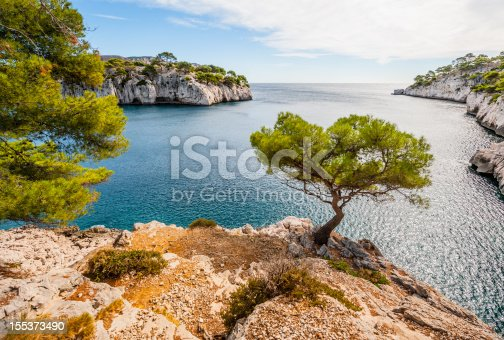 Calanques, the famous geological formation between Cassis and Marseille  mediterranean coast of France