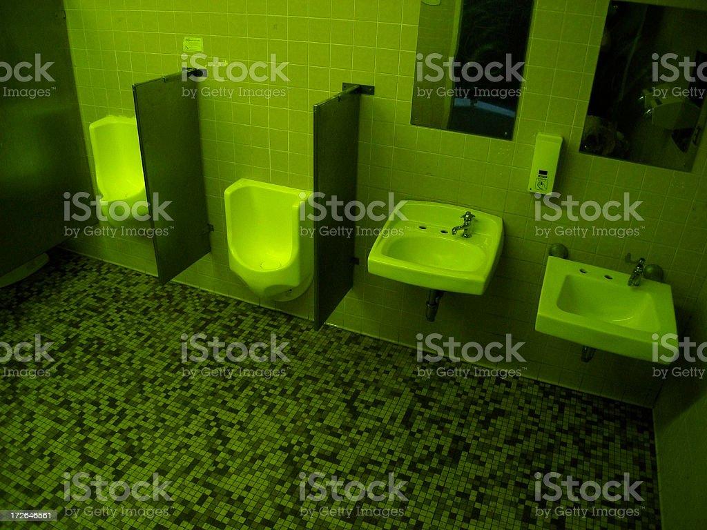 Creepy bathroom stock photo