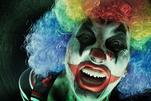 Creepy Clown Close Up Stock Photo - Download Image Now