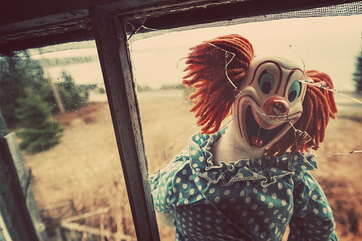Creepy Clown in Window