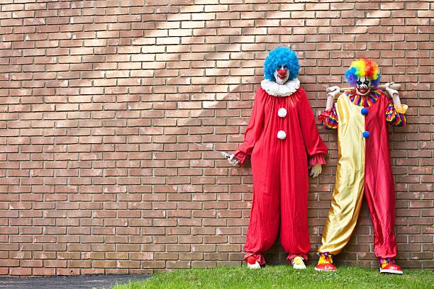 Creepy Clowns Waiting For You - foto de stock