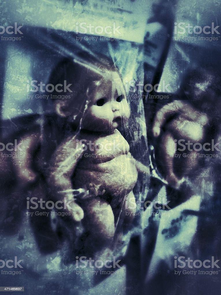 Creepy Doll Babies royalty-free stock photo