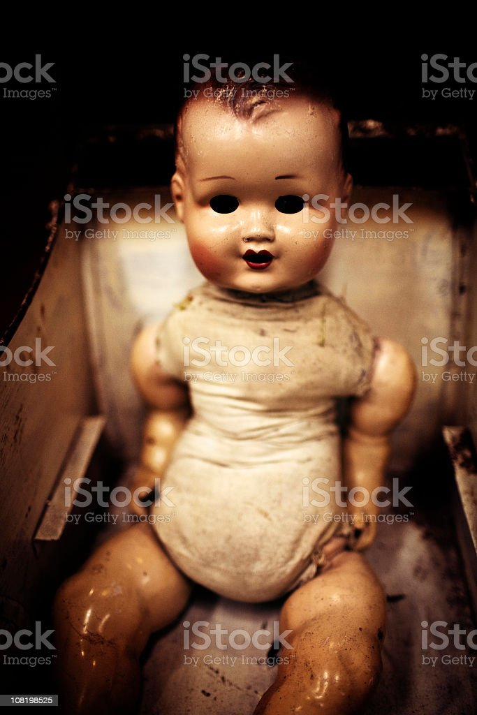 creepy doll stock photo